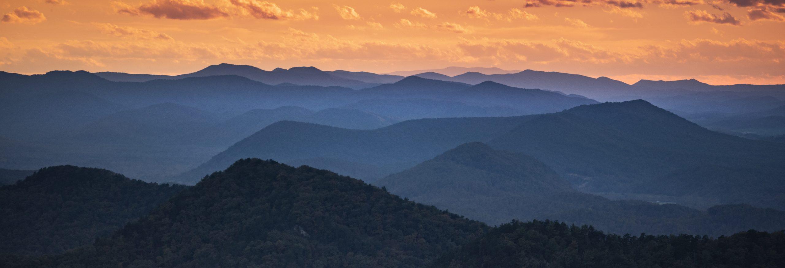 Blue Ridge Mountains scenic panorama vista view